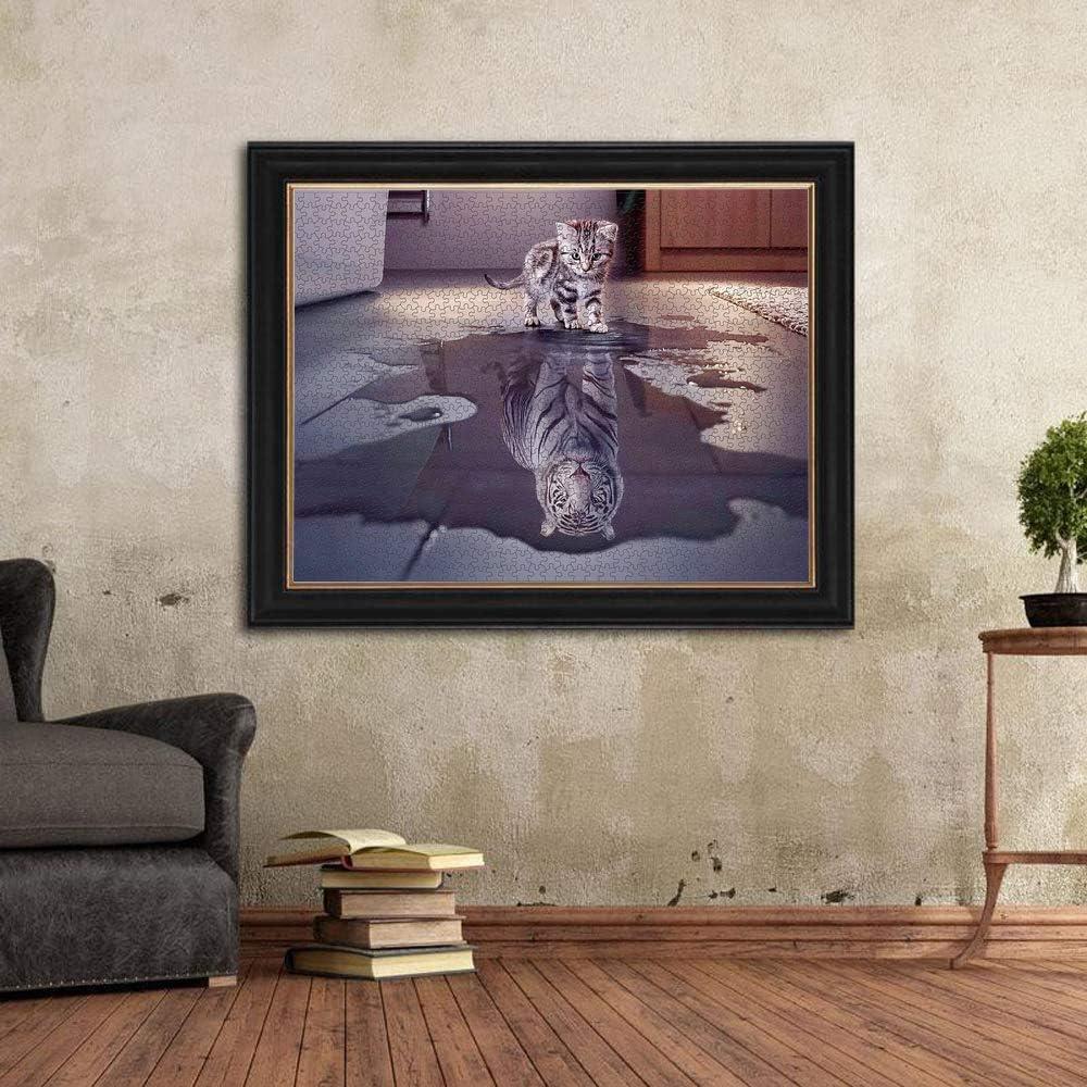 NIID 1000 St/ücke Katze und Tiger Puzzle Kreative Schwierige Gro/ße Puzzle P/ädagogisches Stressfreisetzung Spielzeug f/ür Erwachsene Kinder