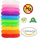 XIAO MO GU 10 Pack Mosquito Repellent Bracelet for Adults, Children and Kids, Waterproof and Eco-Friendly up 200 Hours safe to use, 100% all Natural Botanical Essences Solution to mosquito & Insects Bite