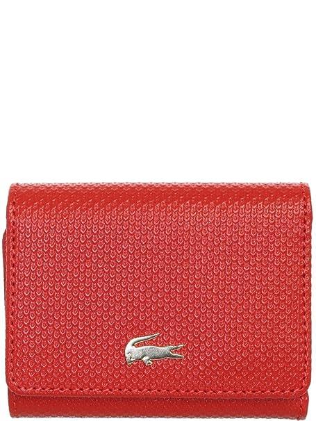 venta oficial diseños atractivos gran descuento Lacoste - Cartera para mujer Mujer High Risk Red Talla única ...