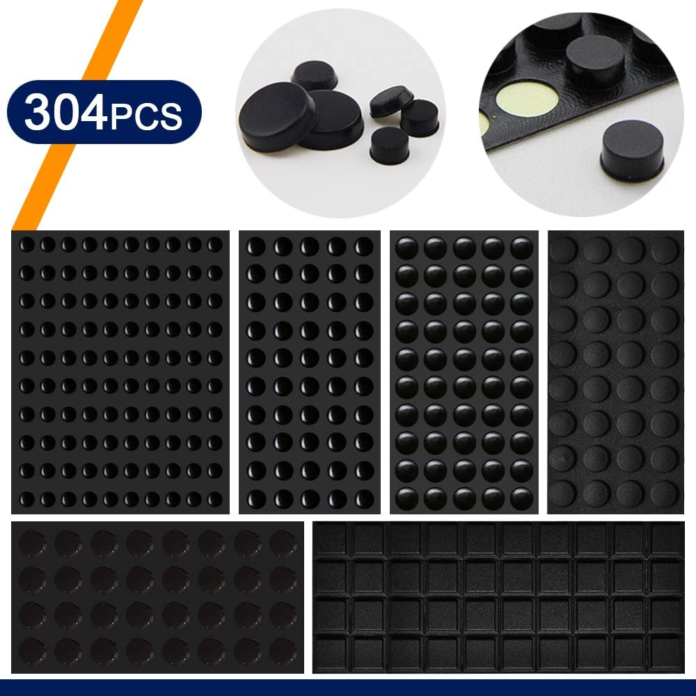 Coardor Clear Bumper Pads for Door 304 in 1 kit Rubber Feet Adhesive Self Stick