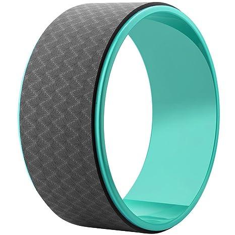Rodillo de rueda de yoga diseñado para Dharma yoga, para estirar y mejorar los respaldos de entrenamiento de equilibrio, yoga postura y ejercicios de pilates, color green+black, tamaño talla única