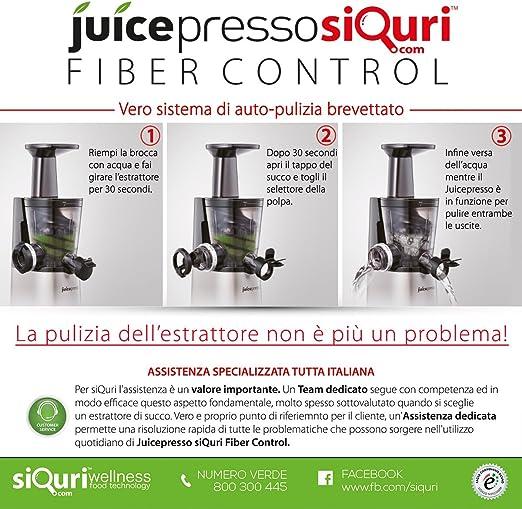 siQuri Juicepresso - Extractor de zumo con regulador de fibra ...