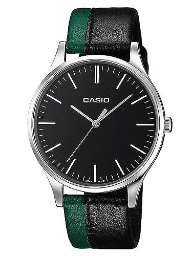 Casio Reloj Analógico para Hombre de Cuarzo con Correa en Cuero MTP-E133L-1EEF: Amazon.es: Relojes