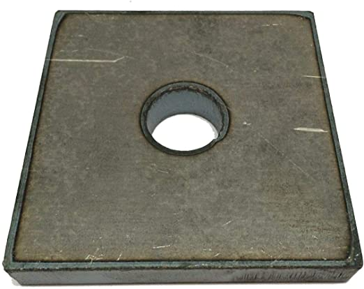 "1//4/"" x 2/'/' x 2/"" with a 7//8/'/' hole A36 steel Steel Bracket Plate"