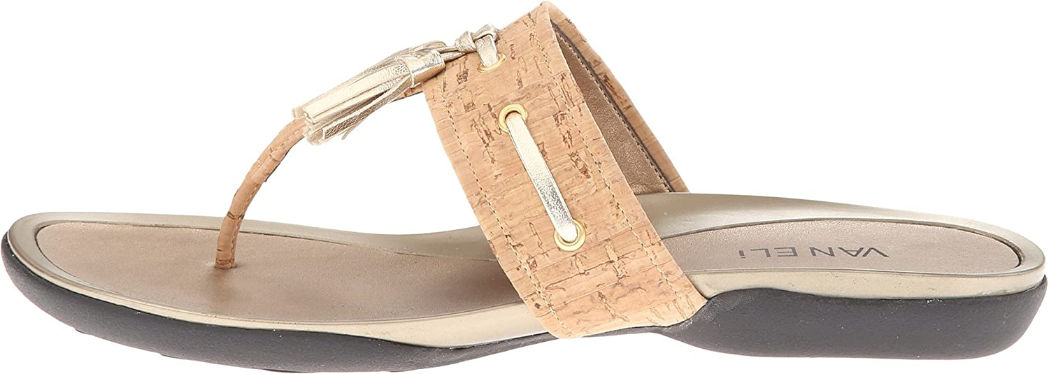 Amazon.com | Vaneli Women's Wanita Natural Cork/Platino Met Nappa Sandal  10.5 M (B) | Sandals