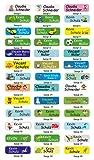 INDIGOS UG® Namensaufkleber / Sticker - 5x1,5 cm - 60 Stück für Kinder, Schule und Kindergarten