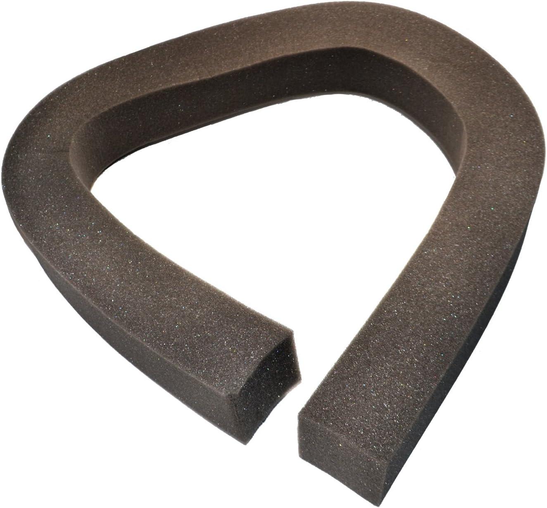 HQRP Foam Window Air Conditioner Weatherstrip/Insulating Strip Seal, 2 1/8-Inch x 2 1/8-Inch x 43-Inch + HQRP Coaster