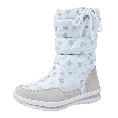 newest 27cb1 8332d Shenji Scarpe Donna Invernali - Stivali da Neve A Mezza Gamba  Antisdrucciolo H20612