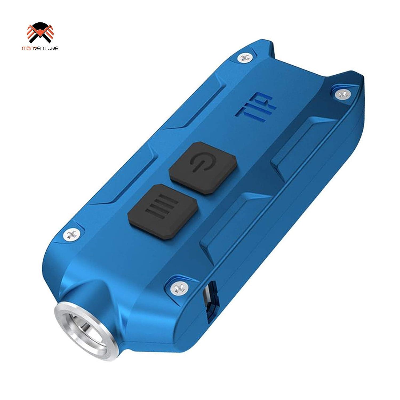 Nitecore® TIP 2017 USB Wiederaufladbar Taschenlampe 360 Lumens LED Super Hell EDC Schlüsselbund Leicht 23.5 Gramm Mini-Taschenlampe Integerierte LI-Ion Akku hohe Kapazität, Lange Laufzeit bis zu 46 Stunden, CREE XP-G2 G3 LED Schlüsselring, Leuchtweite 74 m