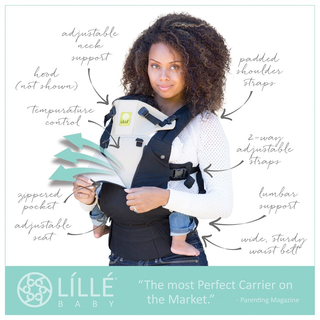 SIX-Position, 360° Ergonomic Baby & Child Carrier by LILLEbaby - The COMPLETE All Seasons (Stone) SC-3S-404