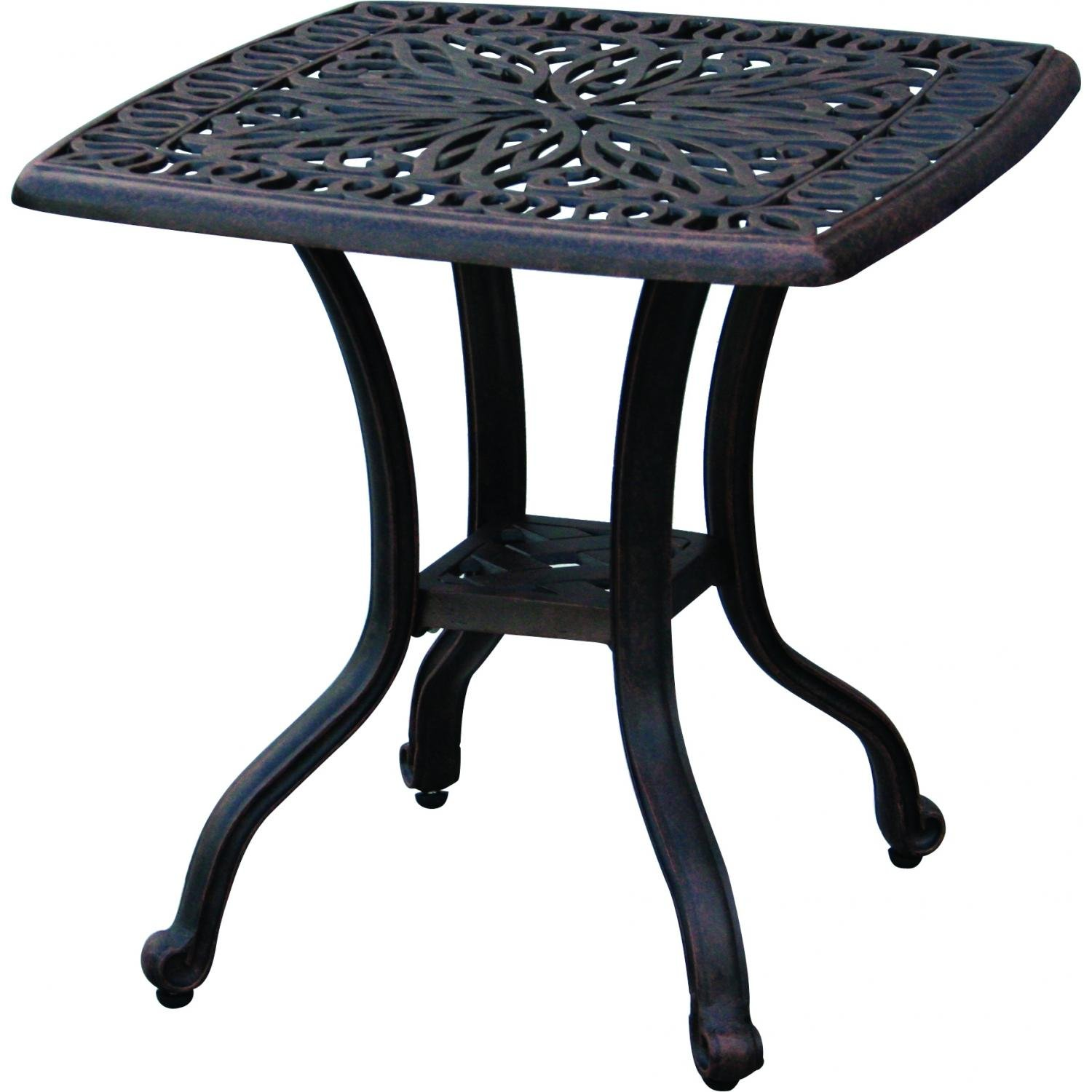Amazon.com : Darlee Elisabeth Cast Aluminum Outdoor Patio End ...
