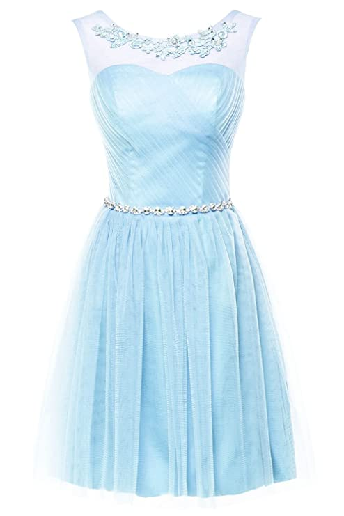 Erosebridal Short Bridesmaid Dress Lace Appliques Beads Evening Dress at Amazon Womens Clothing store: