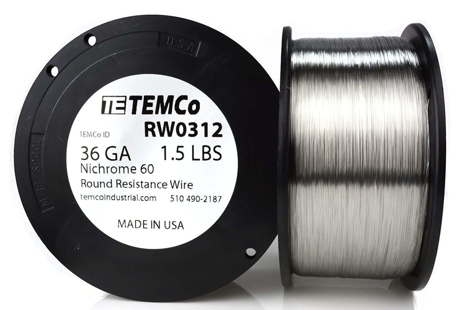 Temco Nichrome 60 Series Wire 36 Gauge 5000 Ft Resistance Awg Ga Wiring In Parallel