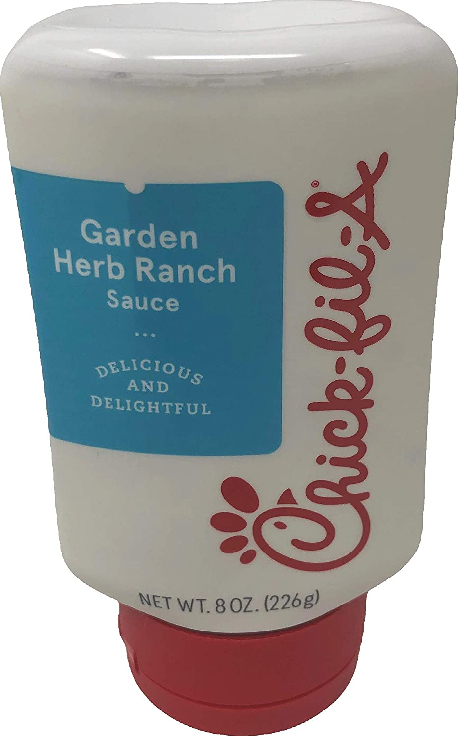 Chick-Fil-A Sauce 8 oz. Squeeze Bottle - Resealable Container For Dipping, Drizzling, and Marinades (Garlic Herb Ranch)