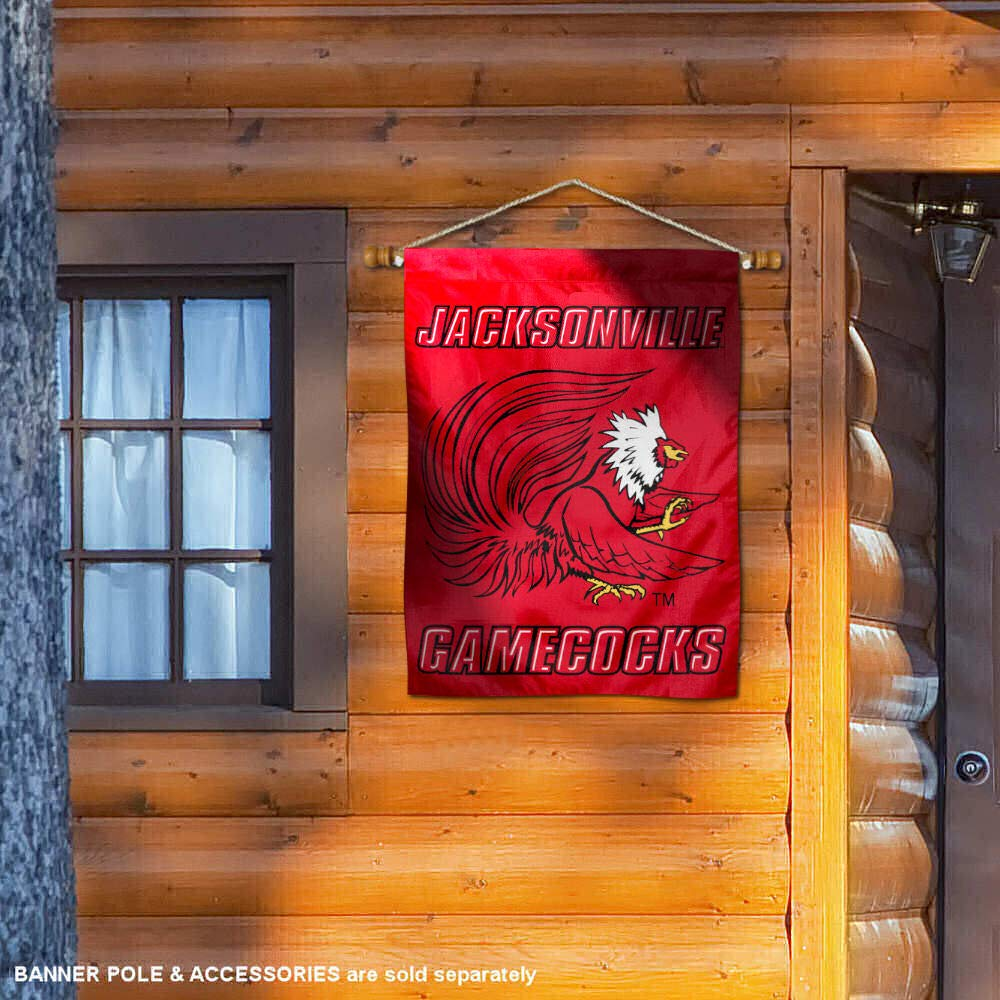 College Flags and Banners Co Jacksonville State Gamecocks Banner House Flag