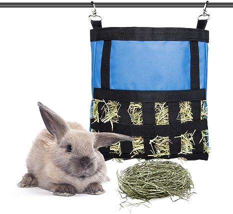 Rabbit Hay Sack Fabric Hay Bag Chinchilla Hay Bag Guinea Pig Hay Bag Hanging Hay Feeder