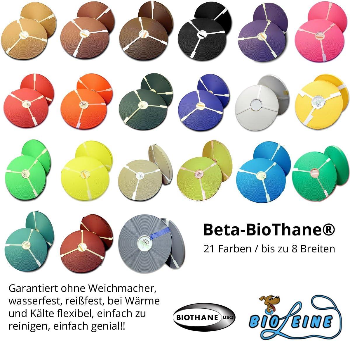 Biothane Beta Meterware in 21 Farben bis zu 8 Breiten