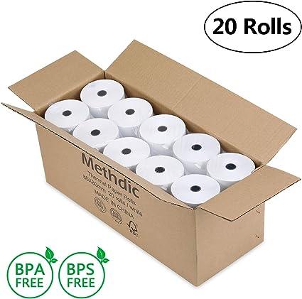 Methdal rotoli di carta termica 80 x 80 mm 50 Rolls