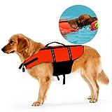 Ploopy Dog Lifejacket, Dog or Cat Life Preserver, Doggy Life Jacket, Pet Dog Saver Life Vest Coat Flotation Float Life Jacket Orange M