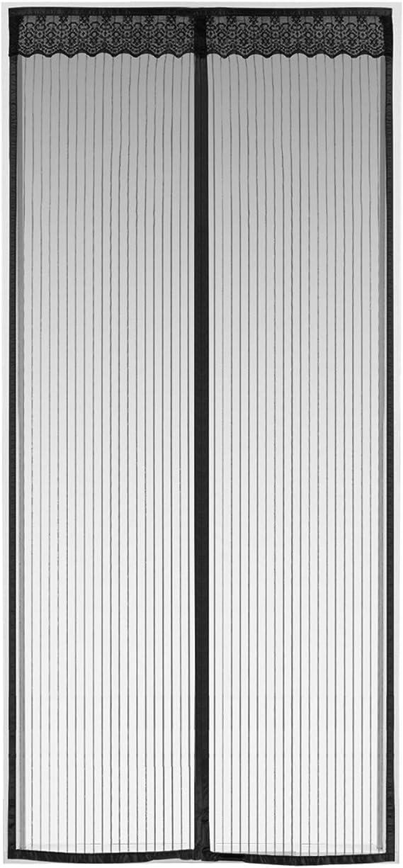 Insektenschutz T/ür mit Klettband faltbar CHENG Magnet Fliegengitter Balkont/ür 90x205cm Passt T/ürgr/ö/ße bis zu Wei/ß Luft kann frei str/ömen H/ände frei