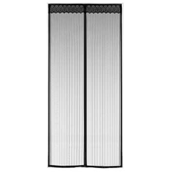 Fliegengitter Tür Insektenschutz Magnet Vorhang Fliegenvorhang 100 X 210 Cm  Für Den Balkon, Wohnzimmer,