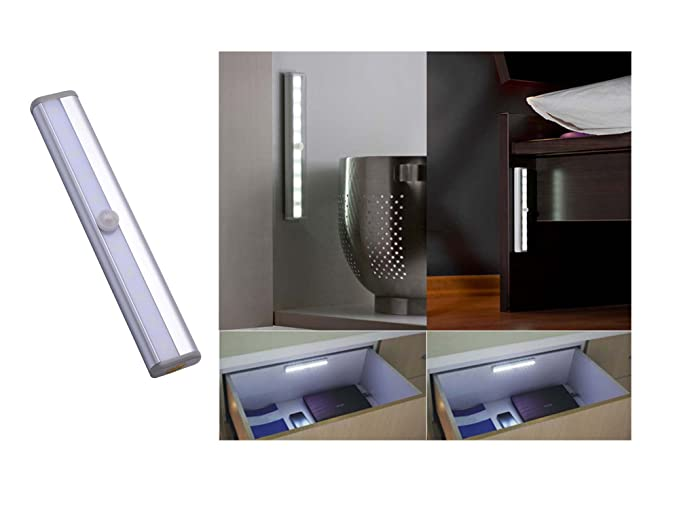 Motion Sensor Light Cabinet Motion Sensing Closet Cupboard Wardrobe Attics  Hallway Stairs Drawer Washroom Step Storage