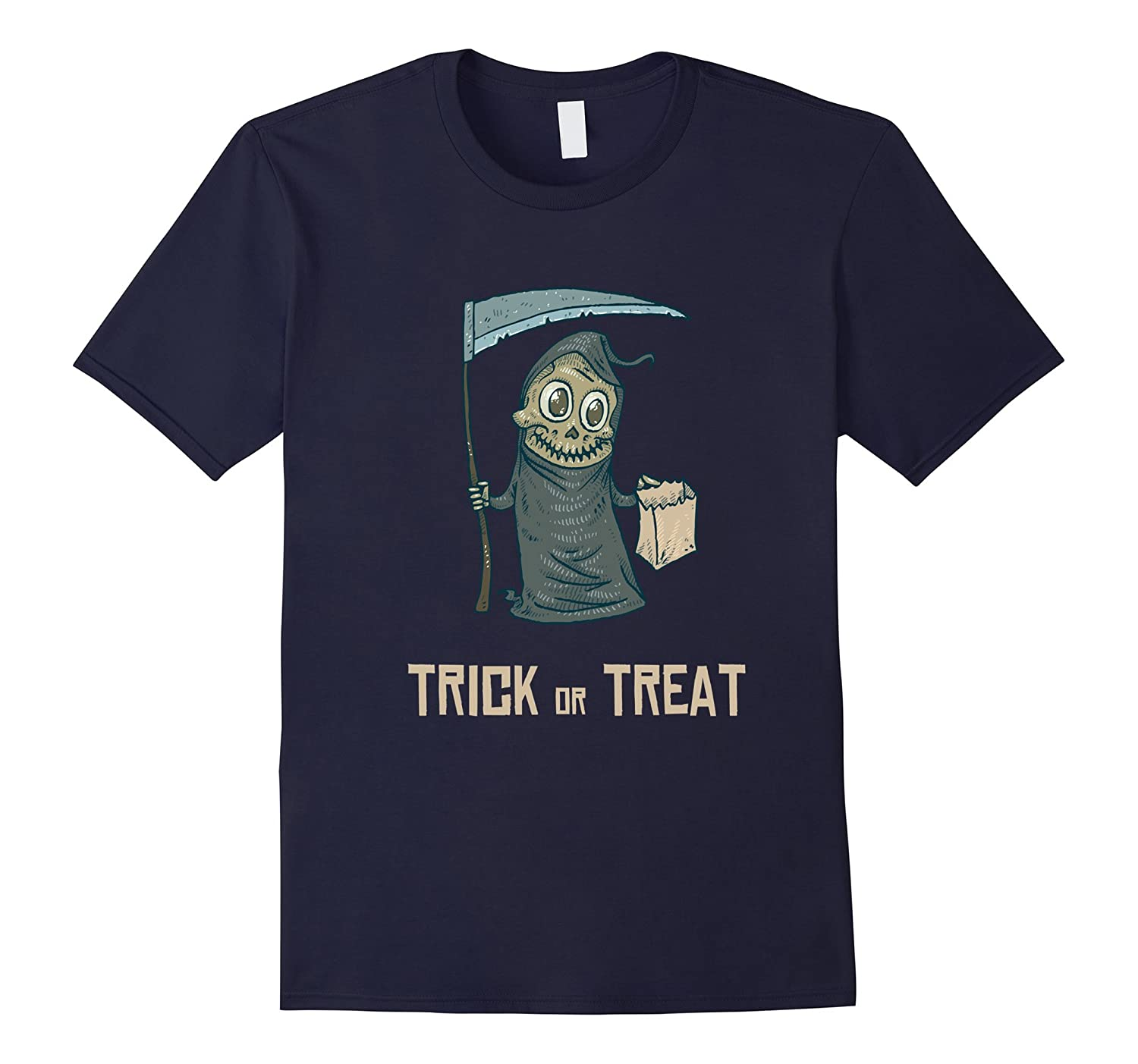 Cute Reaper Trick or Treat - Halloween Costume T Shirt-FL