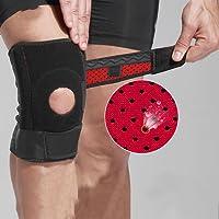 XUEXIN Sport Masculina entrenamiento físico deportivo de baloncesto de la rodilla en cuclillas daños menisco senderismo escalada de pintura protector de rodilla en funcionamiento (un par)