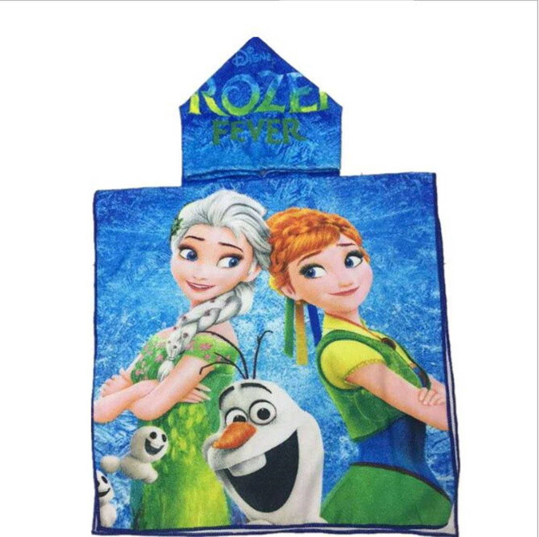 SWEETXIN Infant Kids Animal Design Hooded Bath/Beach Poncho Towel (Frozen)