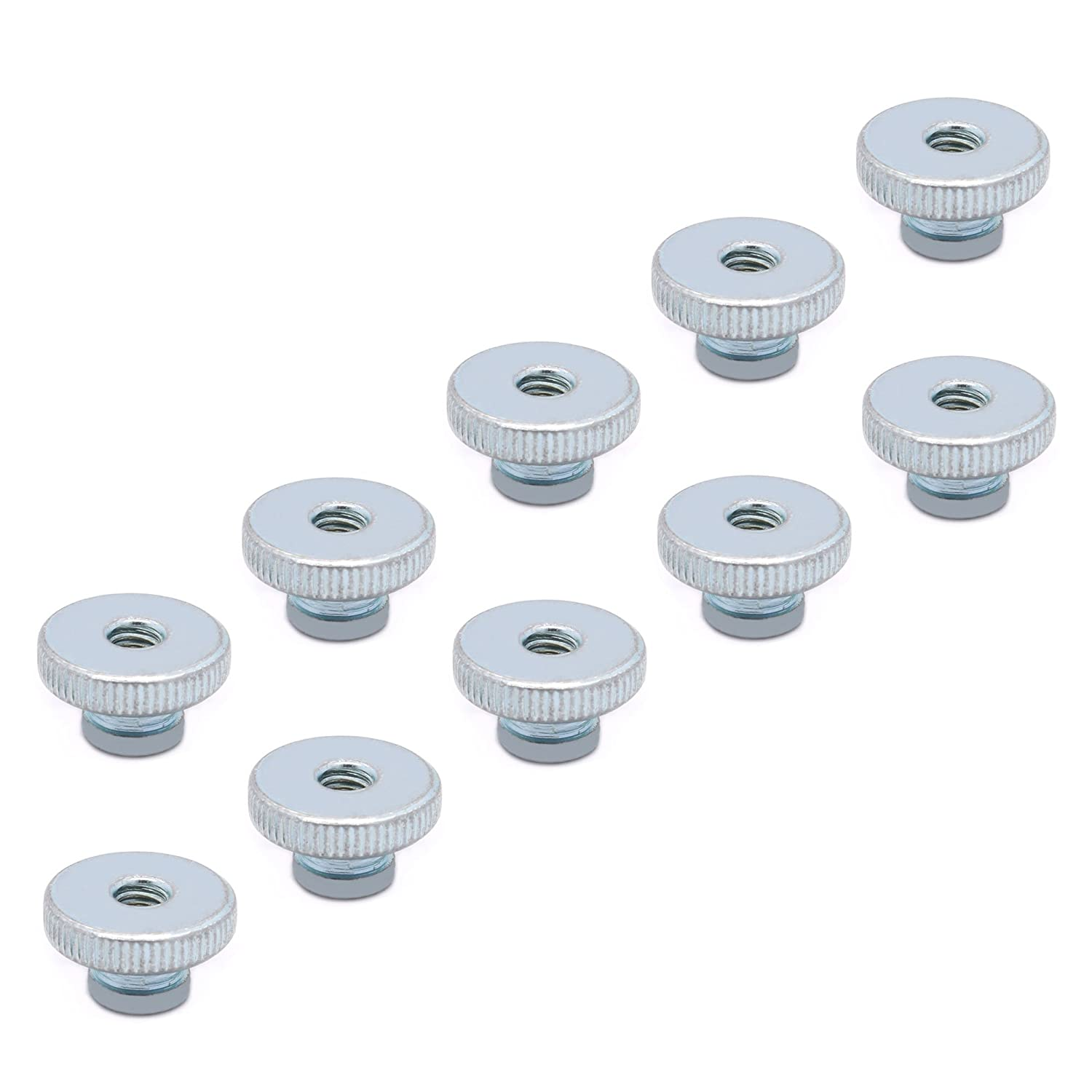 HUABAN 10pcs M3 Stainless Steel Adjustment Screw Thumb Nuts Part for Heated Bed 3D Printers Parts