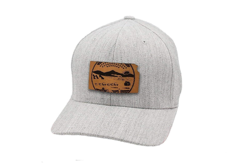 Branded Bills Kansas The 34 Leather Patch Hat Flex Fit