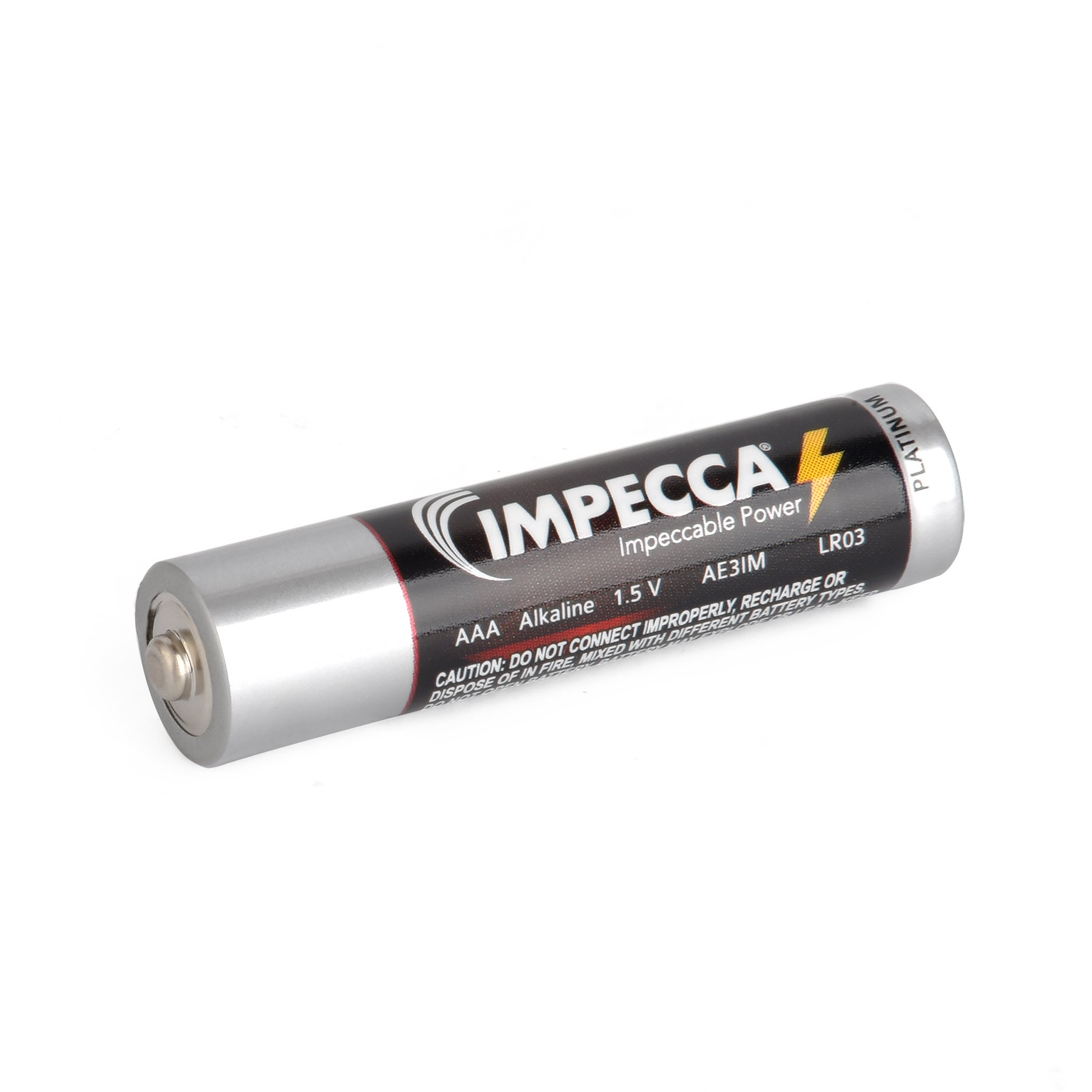 IMPECCA AAA Batteries, All Purpose Alkaline Batteries (100-Pack) High Performance AAA Battery Long Lasting Shelf Life and Leak Resistant 100-Count LR3 - Platinum Series