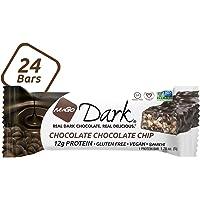 NuGo Dark Chocolate Chocolate Chip, 12g Vegan Protein, 200 Calorie, Gluten Free, 24 count