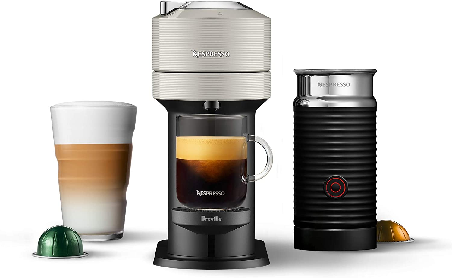 Best home espresso machine under 200 -Breville-Nespresso USA BNV550GRY1BUC1 Vertuo Next