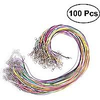 ULTNICE 100Pcs Waxed cadena cera cordón collar