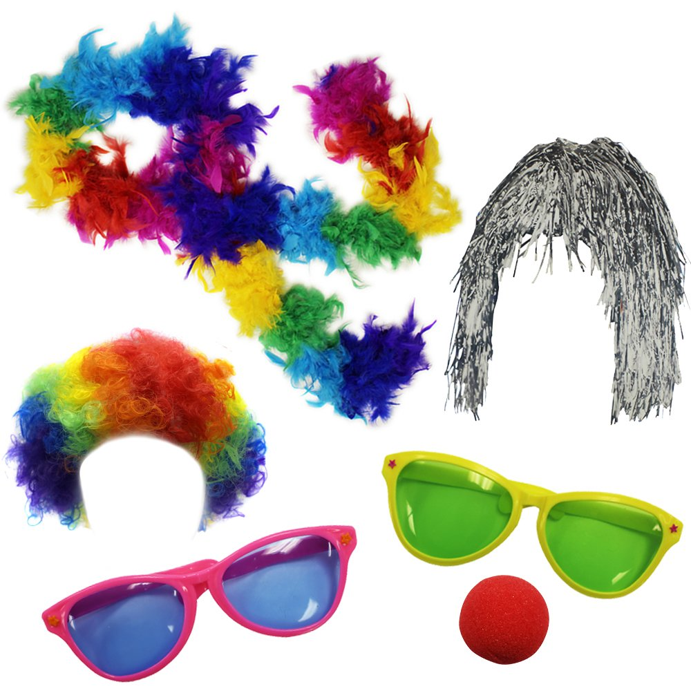 Funny Party Hats Clown Accessory Kit Party Favors Dress Up - Photo Booth Props