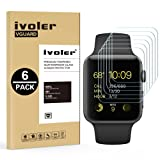[6 Pack] Pellicola Vetro Temperato Apple Watch 42mm Series 1 / Series 2 / Series 3, iVoler ** [Protezione Antigraffi] **Anti-riflesso Ultra-Clear** Ultra resistente in Pellicola Apple Watch 42mm Series 1 2015 / Series 2 2016 / Series 3 2017, Pellicola Protettiva Protezione Protettore Glass Screen Protector per Apple Watch 42mm.Vetro con Durezza 9H, Spessore di 0,2 mm,Bordi Arrotondati da 2,5D - Garanzia a Vita