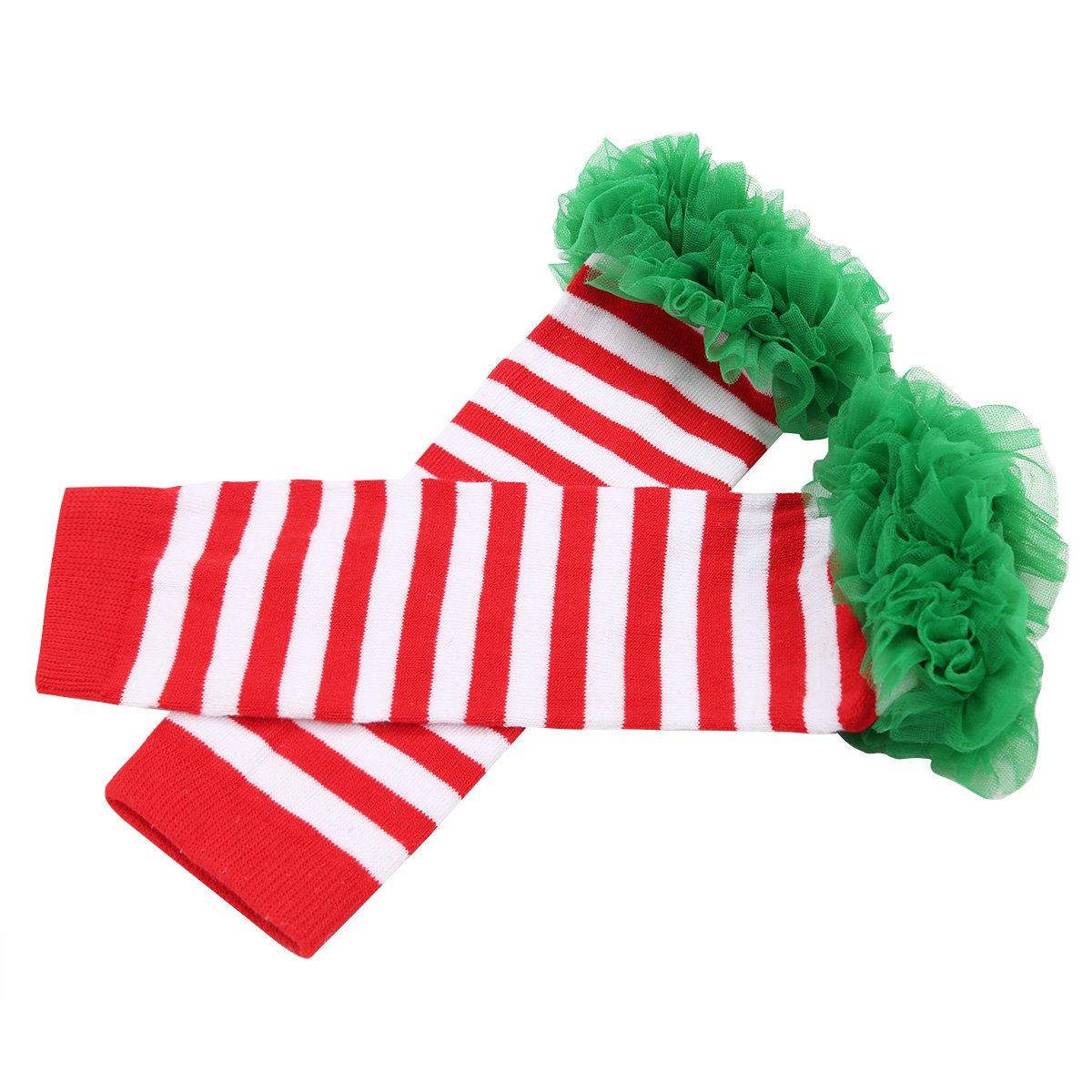 FEESHOW Enfant B/éb/é Fille Jambi/ère /épaississement Garde au chaud en Coton Souple Gu/être Adorable Chaud avec Bandeau /élastique chaussette