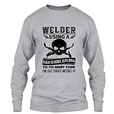 Amazon.com: Elido Store Welder T Shirt - Welder\'s High School ...