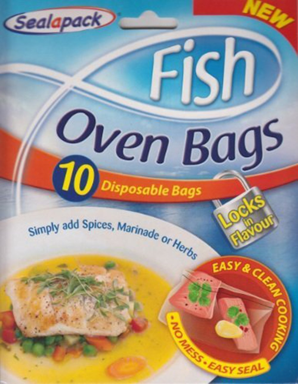 Sealapack fish oven bags 10 disposable bags no mess for Fish in a bag
