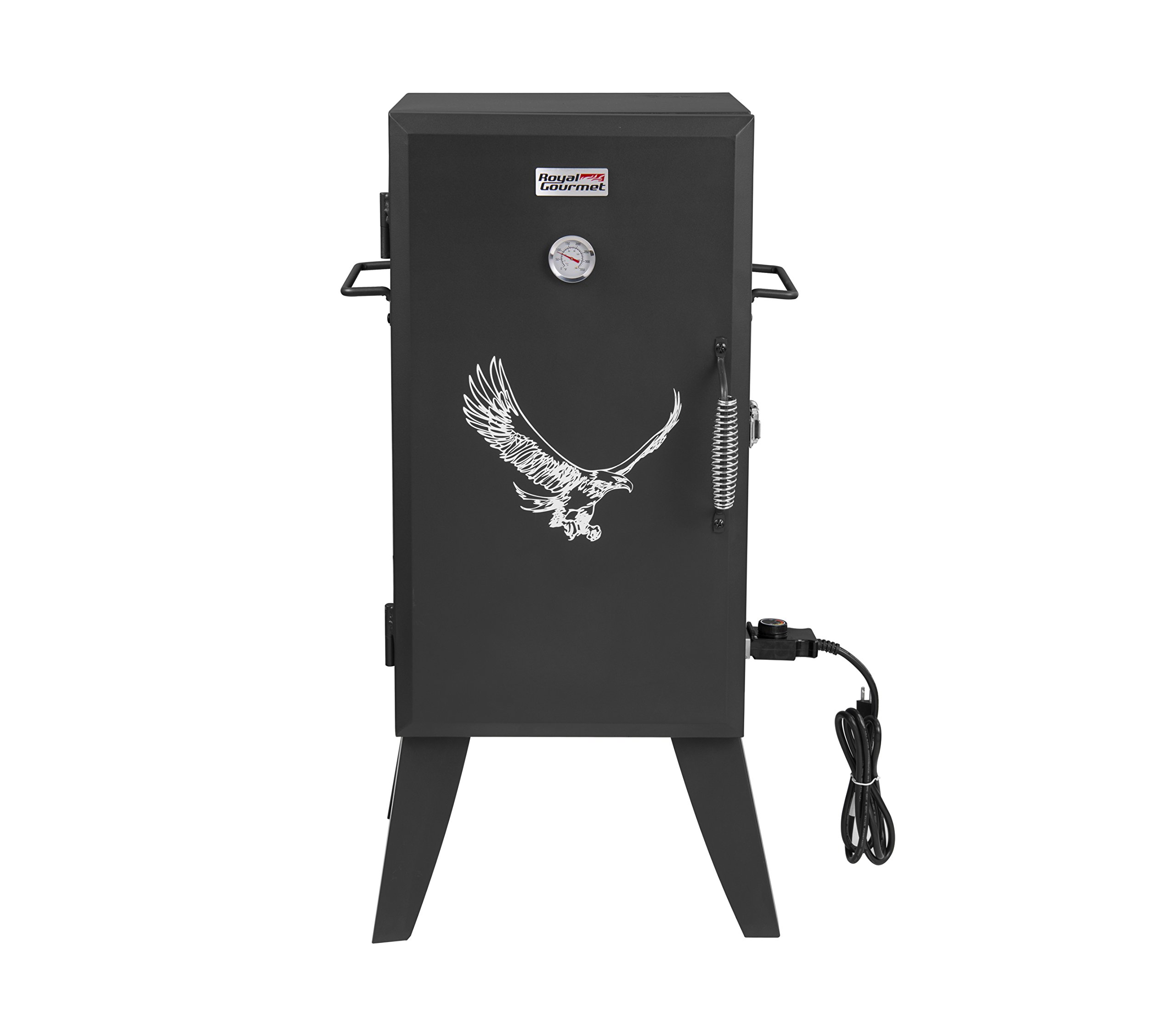 RoyalGourmet 28 Inch Electric Smoker with Adjustable Temperature Control by Royal Gourmet