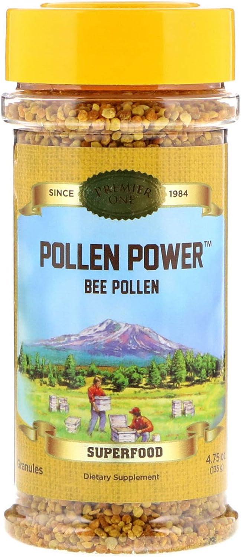 Honey Gardens Premier Pollen Power Granule, Natural (Btl-Plastic)   4.5g 4.75oz