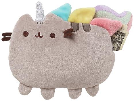 GUND Pusheenicorn Pusheen Cat Plush Stuffed Unicorn Coin Purse, Gray, 7
