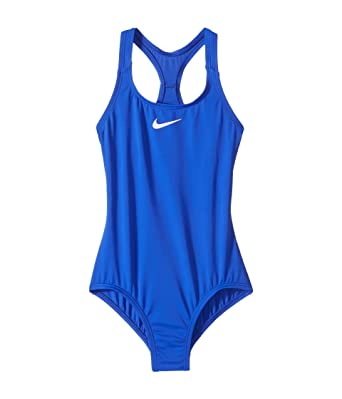 6b8d29e29775d Image Unavailable. Image not available for. Color  Nike Girls Solid Racerback  Sport One-Piece Swimsuit ...