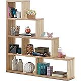 "Tangkula 4-Shelf Ladder Corner Bookshelf, Modern & Simple Style Storage Bookcase, 61""L x 11""W x 64""H, 4-Layer Ample Storage S"
