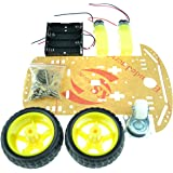 Laqiya 2WD Smart Robot Car Chassis Kit with Speed Encoder Battery Box Arduino 2 Motor 1:48