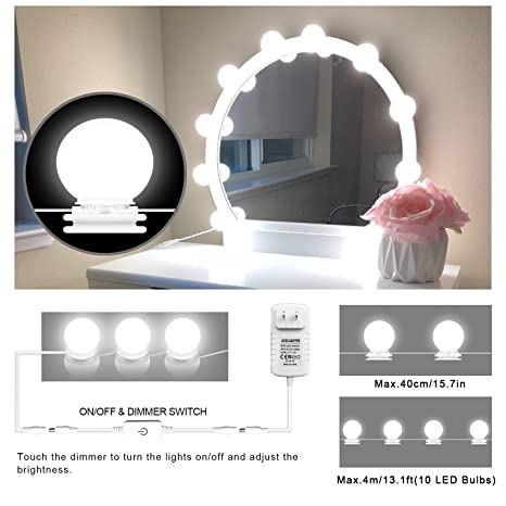 Makeup Mirror Lights Hollywood Style Led Vanity Mirror Lights 10 Led