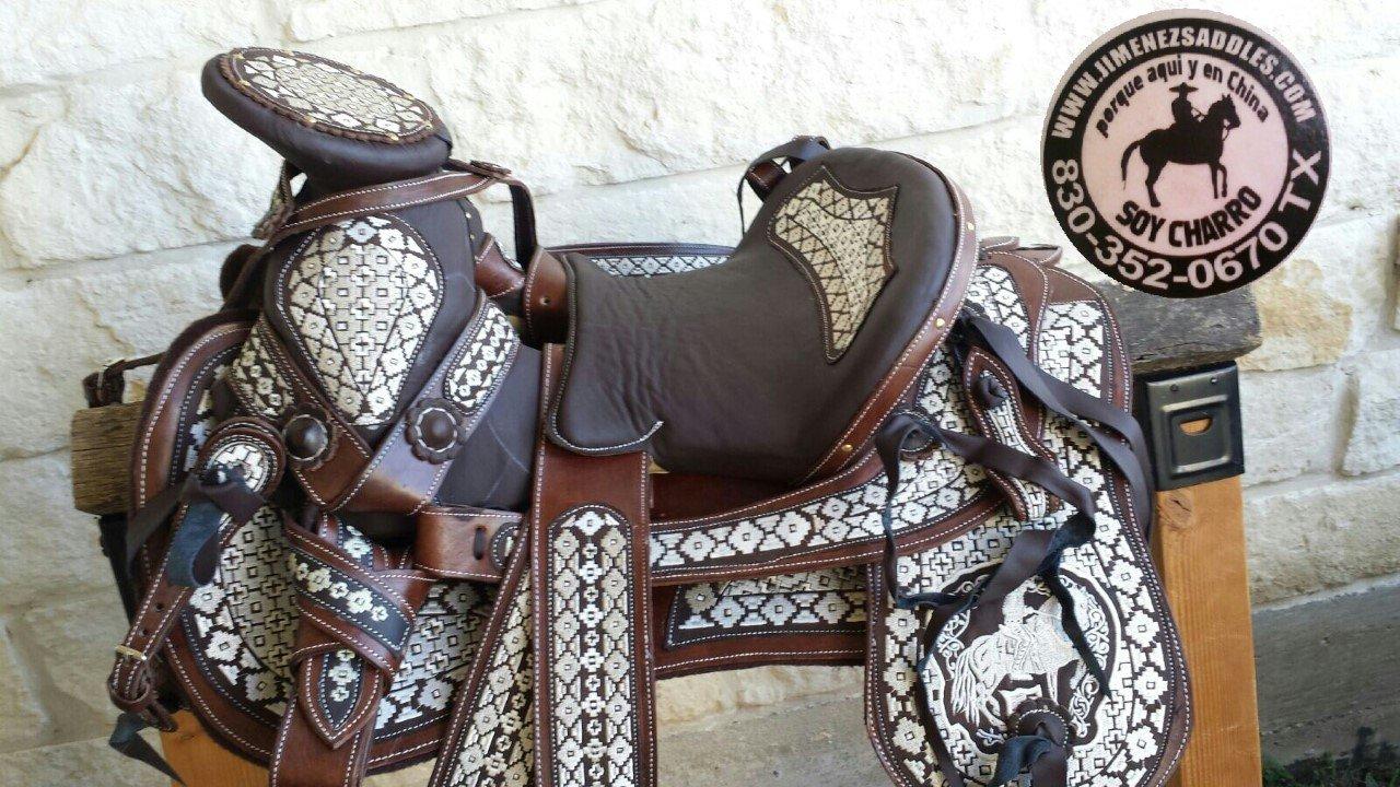 Amazon.com : Jimenez Charro Saddles Horse Saddles Montura Silla Charra Western Cowboy Mexican : Sports & Outdoors