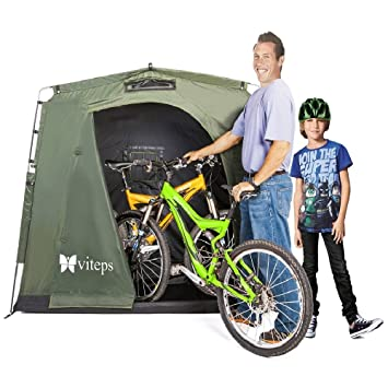 Space Saving Outdoor Storage Shed Tent Stores Bikes
