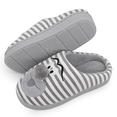Amazon.com | Kids House Slippers Winter Child Warm Plush Cute ...